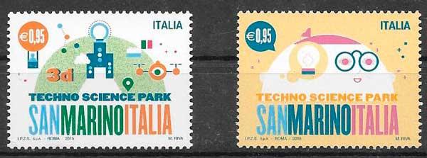 colección sellos emisiones conjuntas Italia 2015