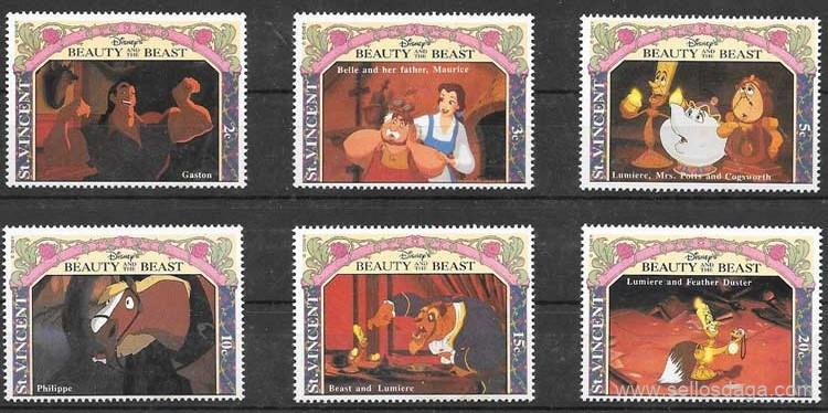 sellos Sant Vicente Disney 1992