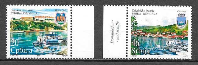 filatelia emisión conjunta Serbia 2007