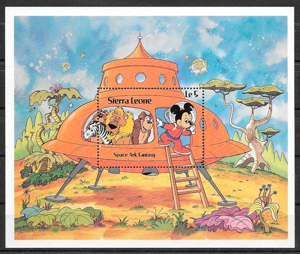 colección sellos Disney Sierra Leona 1983