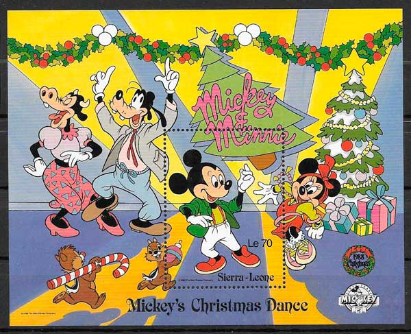 sellos Disney Sierra Leona 1988
