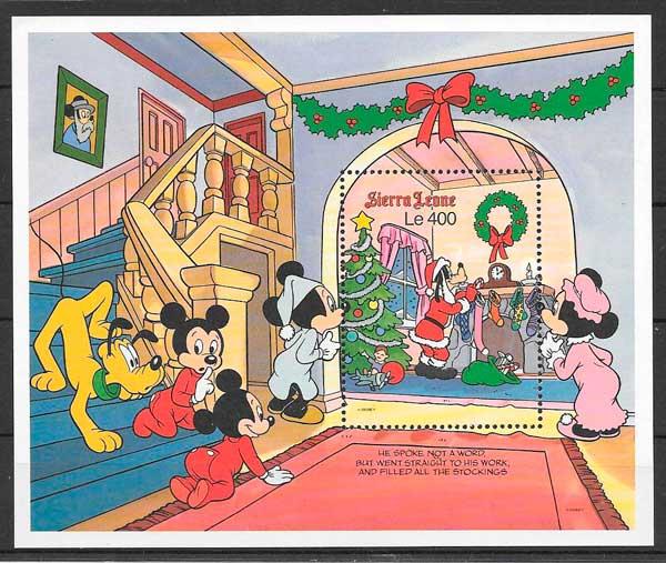 sellos Disney Sierra Leona 1990