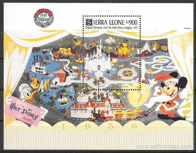 sellos Disney Sierra Leona 1991