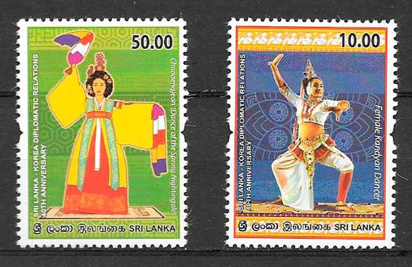filatelia emisión conjunta Sri Lanka