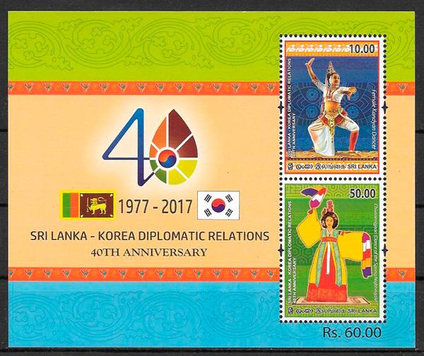 filatelia colección emisión conjunta Sri Lanka