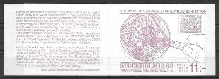 colección sellos Emisión Conjunta Suecia 1986