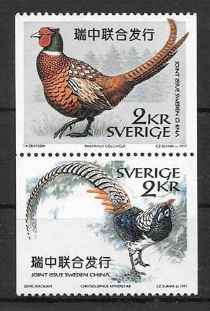 colección sellos Suecia Emisión Conjunta 1997