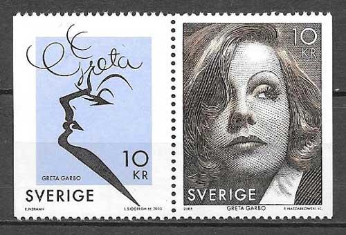 colección sellos Emisión Conjunta Suecia 2005