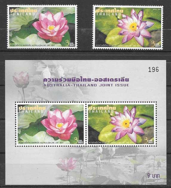sellos Emisión Conjunta Tailandia 2002