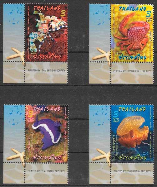 sellos filatelia emisiones conjuntas Tahilandia 2015