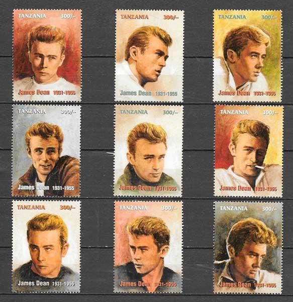 colección sellos cine Tanzania