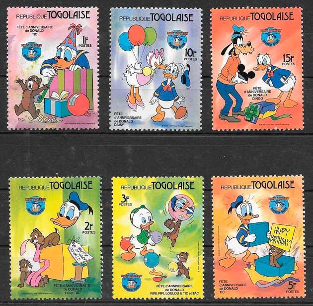 sellos Disney Togo 1984