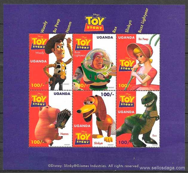 filatelia Disney Uganda 1997