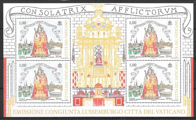 sellos emisión conjunta Vaticano 2016