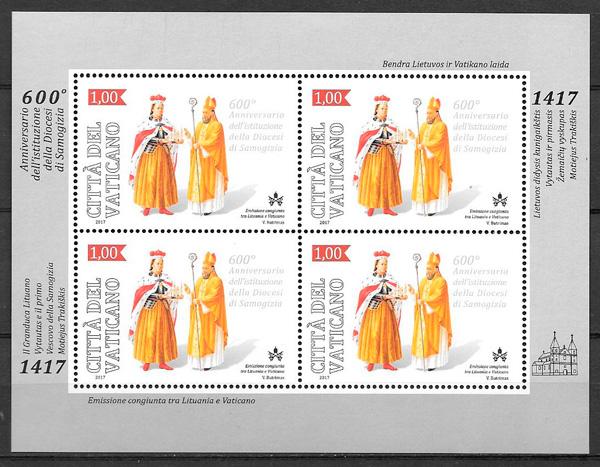 sellos emisión Conjunta Vaticano 2017