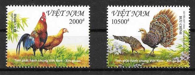 Sellos Emisión Conjunta Viet Nam 2013