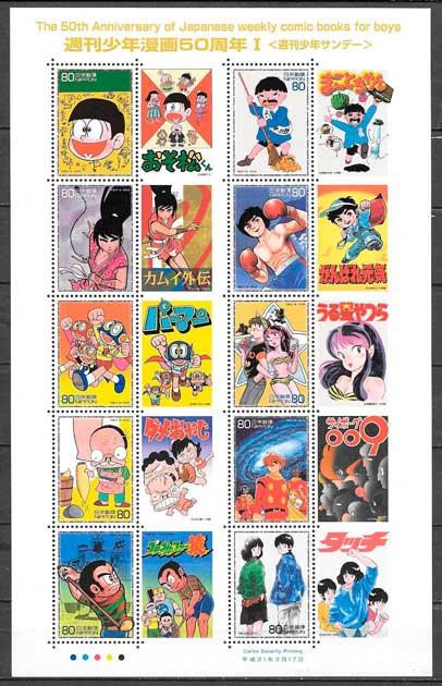 sellos cómic Japón 2009