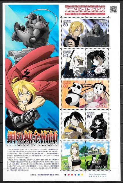 sello cómic Japón 2010