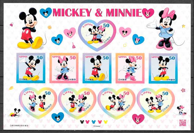 colección sellos Disney Japón