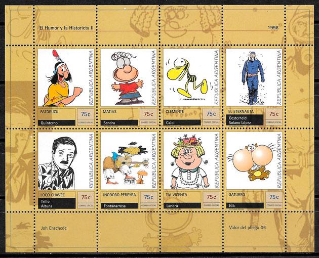 filatelia colección cómic Argentina 1998