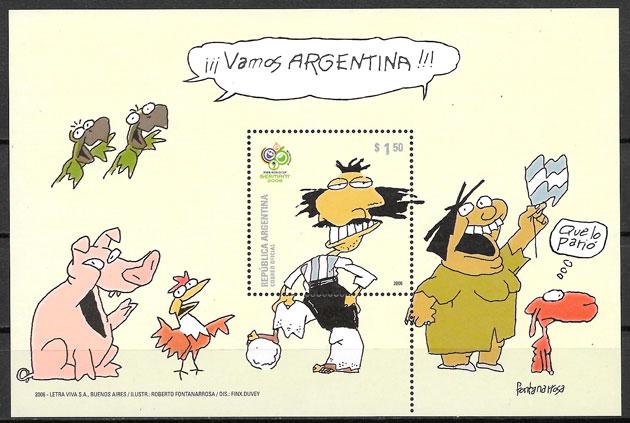 filatelia comic Argentina 2006