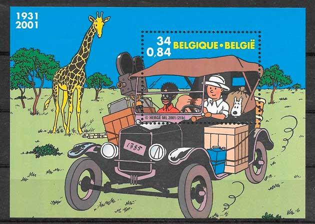 filatelia cómic Bélgica 2001