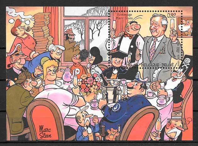 sellos cómic Bélgica 2002