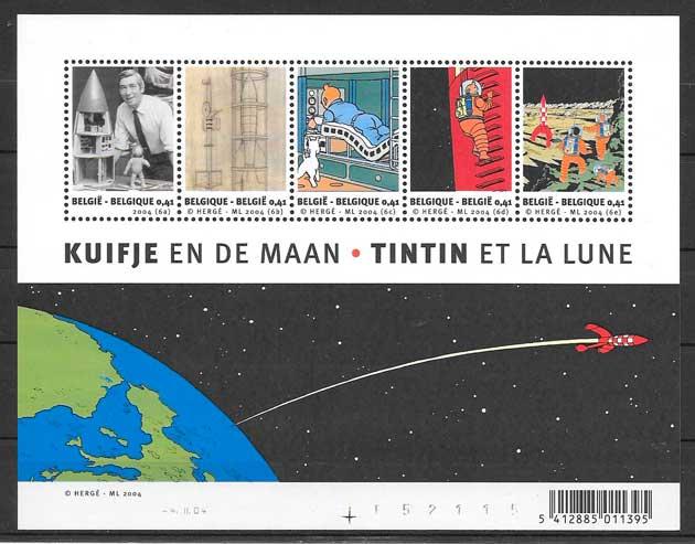 filatelia colección cómic Bélgica 2004