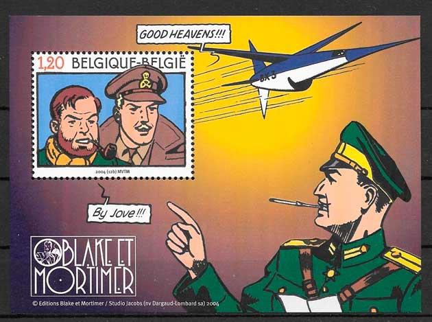 colección sellos cómic Bélgica 2004