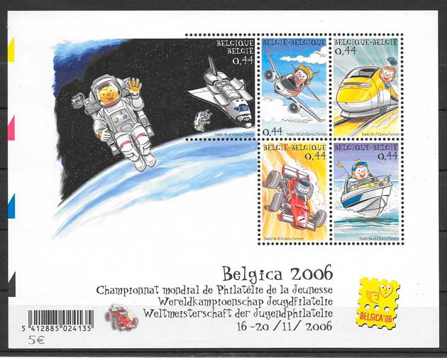sellos cómic Bélgica 2005