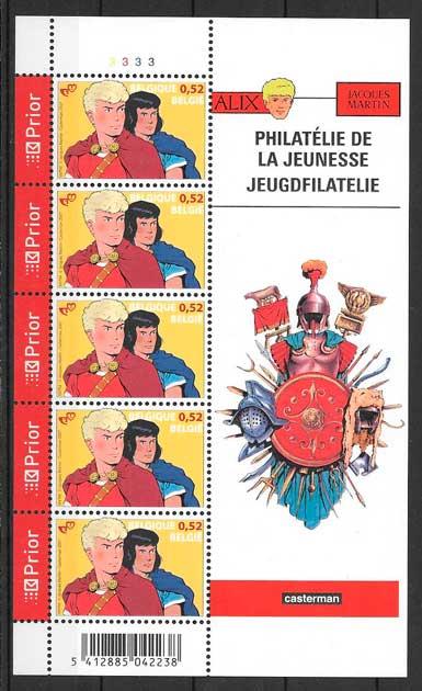 filatelia colección cómic Bélgica 2007