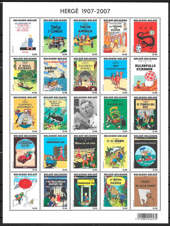 sellos cómic Bélgica 2007