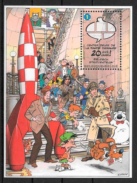 sellos cómic Bélgica 2009