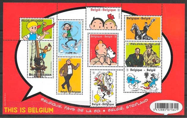 filatelia cómic 2012 Bélgica