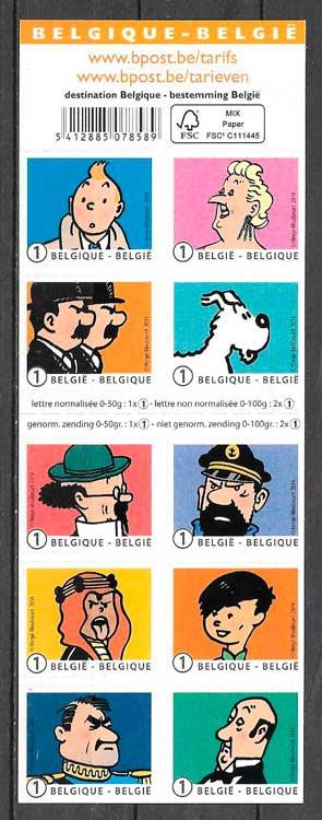 filatelia cómic Bélgica 2014
