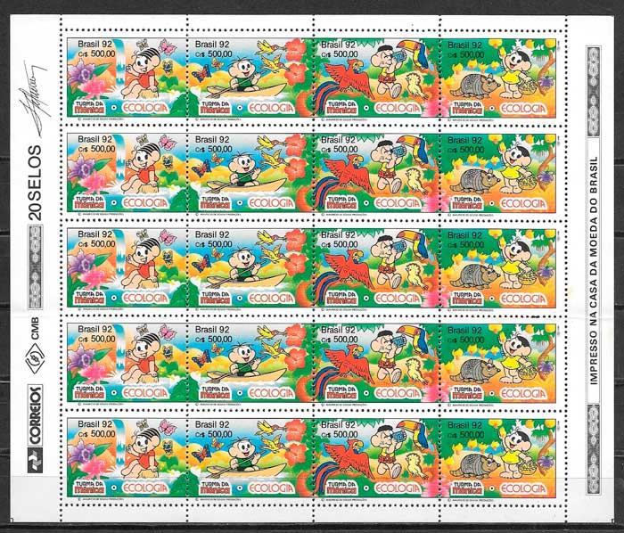 sellos cómic Brasil 1993