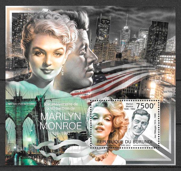 colección sellos cine Burundi 2012