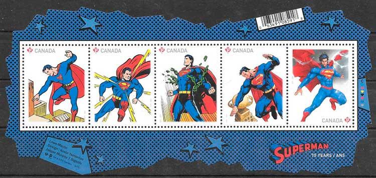 sellos cómic Canadá 2013