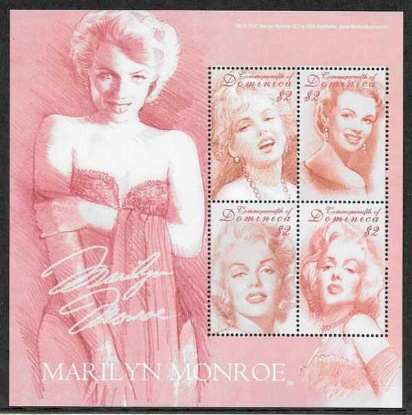 filatelia colección Marilyn Monroe 2004