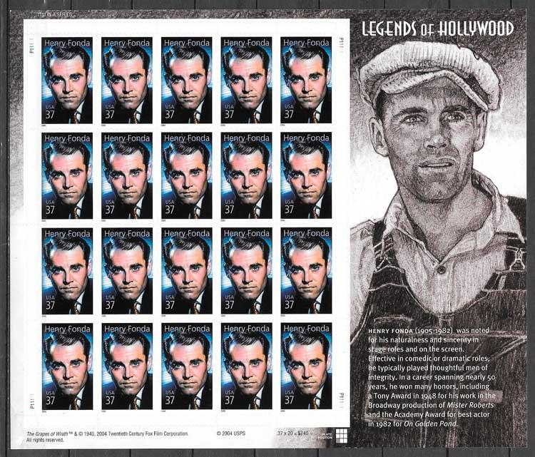 colección sellos cine USA 2005