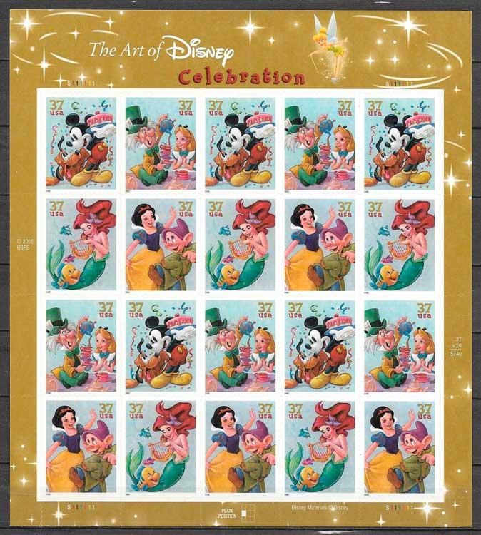 colección sellos cómic USA 2005