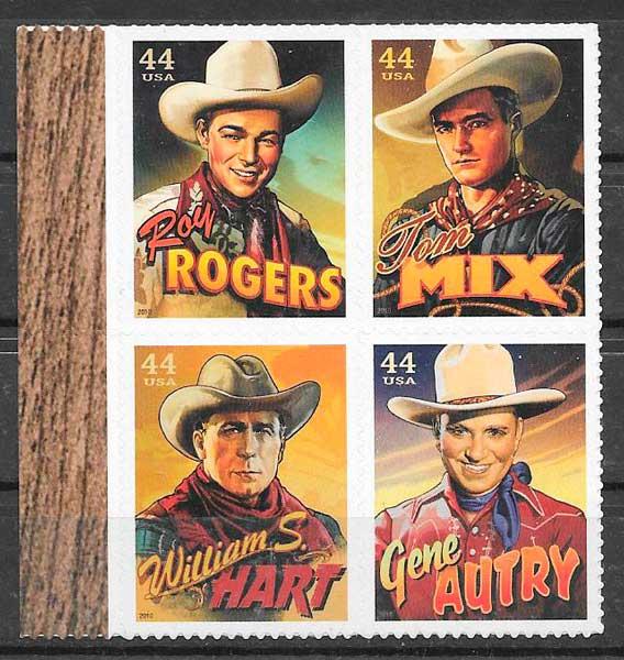 colección sellos cine USA 2010