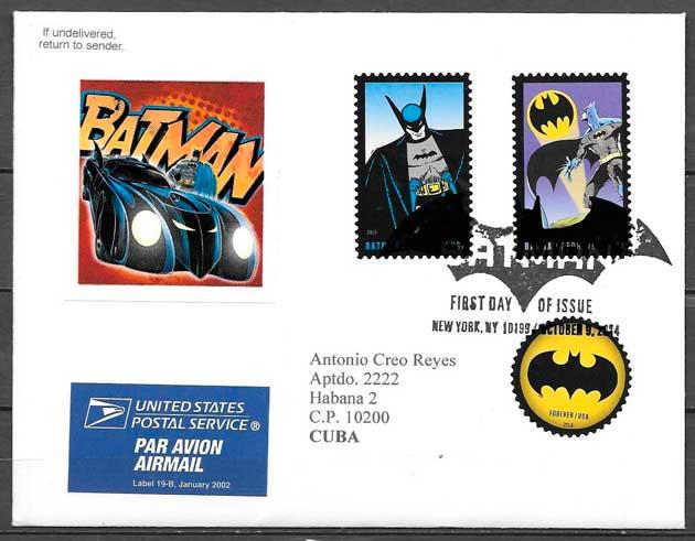 colección sellos cine USA 2014