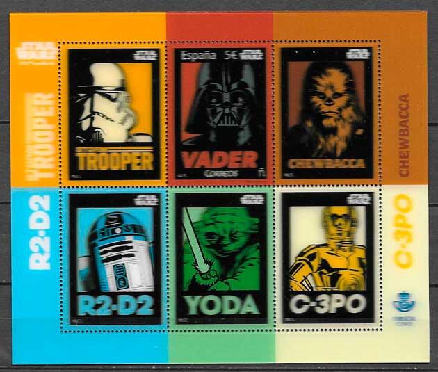 comprar sellos Star Wars España 2017