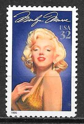 colección sellos cine USA 1995