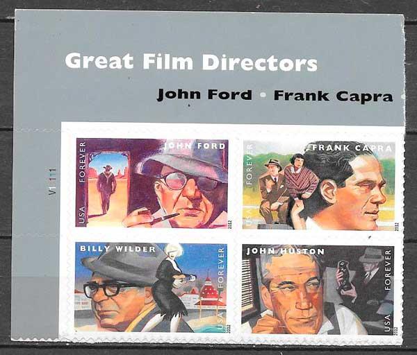sellos colección cine USA 2012