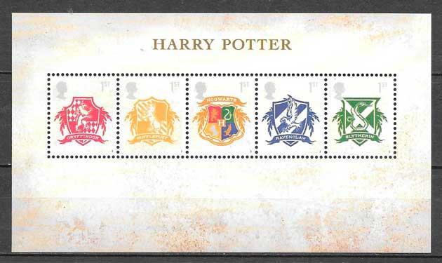 sellos Harry Potter Gran Bretaña 2007