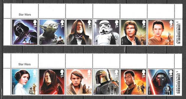 sellos cine Star Wars Gran Bretaña 2015