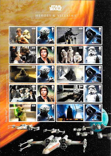 filatelia cine Star wars Gran Bretaña 2015