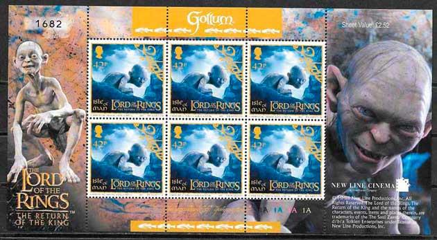 sellos colección cine Isla de man 2003